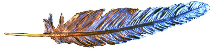 Feather of Truth a Bronze Sculpture Allegory by James Muir Bronze Allegorical Sculptor-Artist