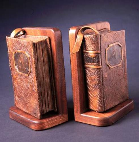 Bookends (Justice) a Bronze Sculpture Allegory by James Muir