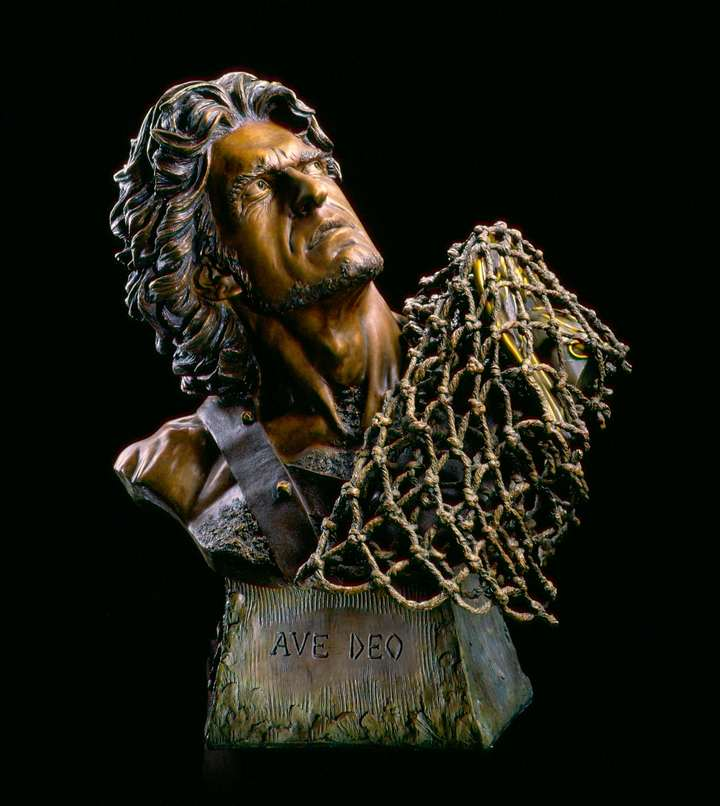 The Gladiator 2 Ave Deo a Life-size Bronze Sculpture Allegory by James Muir Bronze Allegorical Sculptor-Artist