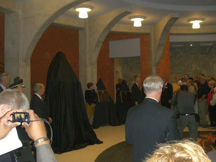 Unveiling of Thomas Jefferson - 1802 bronze sculpture at West Point Library by James Muir