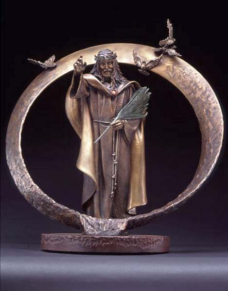 Lord of the Ring a Maquette Bronze Sculpture Allegory by James Muir Bronze Allegorical Sculptor-Artist