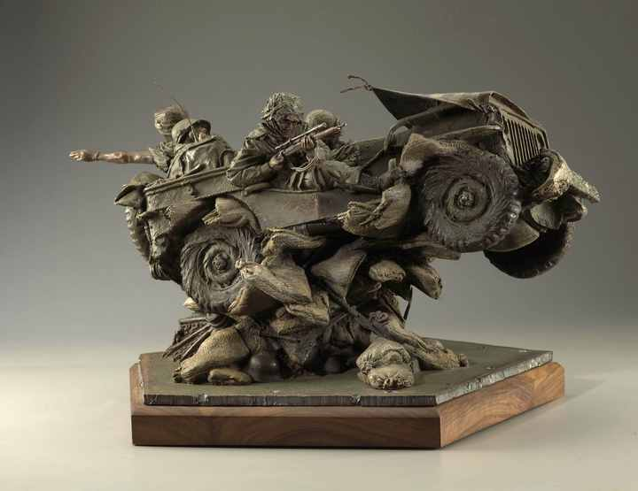 Band of Brothers a Bronze Sculpture Maquette Allegory by James Muir