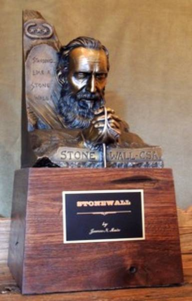 Stonewall Jackson a Bronze Civil War Sculpture Allegory by James Muir